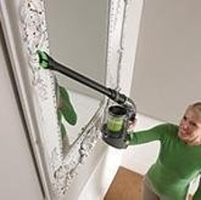 Cleaning Ceiling High with Gtech