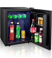 ChillQuiet Silent Mini Fridge 24ltr Black Completely Quiet Mini Bar Ideal for Hotels and B/&Bs